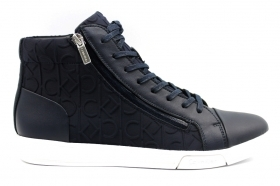Calvin Klein BERKE HI TOP LACE UP BRUSH F0440 Blu Polacchine Uomo