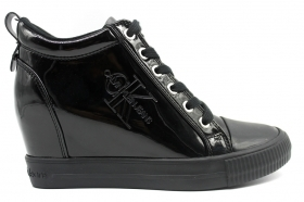 Calvin Klein Jeans RITZY PATENT RE9799 Nero Sneakers Donna Casual
