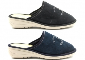 Slippers Women's Warm Black and Blue from 35 to 40