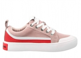 Calvin Klein Jeans DODIE COW SUEDE R0792 Pink Shoe for a Sporty Casual