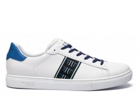 Trussardi Jeans 77A00143 White Blue Sneakers Man Shoe for a Sporty Casual
