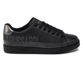 Trussardi Jeans 79A00420 Black Sneakers Women Sports Shoe