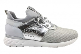 Nero Giardini Junior P931041F Silver Sneakers Women Girl Casual