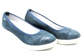 IGI and CO 3151100 Blue Pumps with Wedge heel Shoes Women Shoes Casual