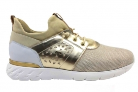 Nero Giardini Junior P931041F Gold Sneakers Women Girl Casual