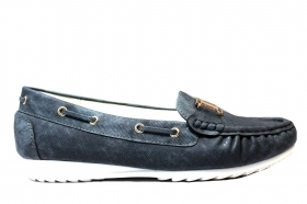 Laura Biagiotti 296 Black and Blue Loafers, Woman Shoes, Women Shoes