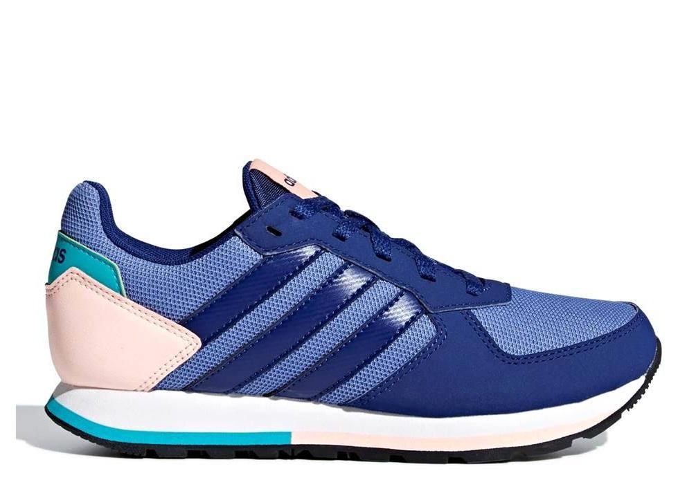 best service f7c89 43afb Adidas 8K B75730 Blu Scarpe Donna Bambini Sneakers Sportive