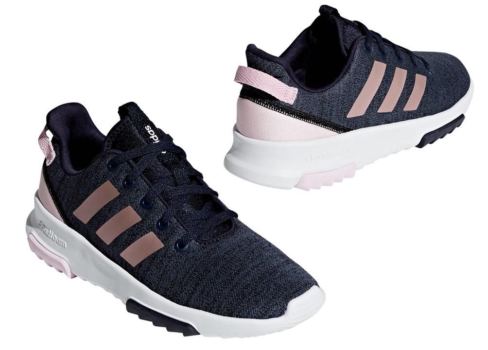watch 800a6 584b2 Adidas CF RACER TR K B75662 Blu Scarpe Donna Bambini Sneakers Sportive