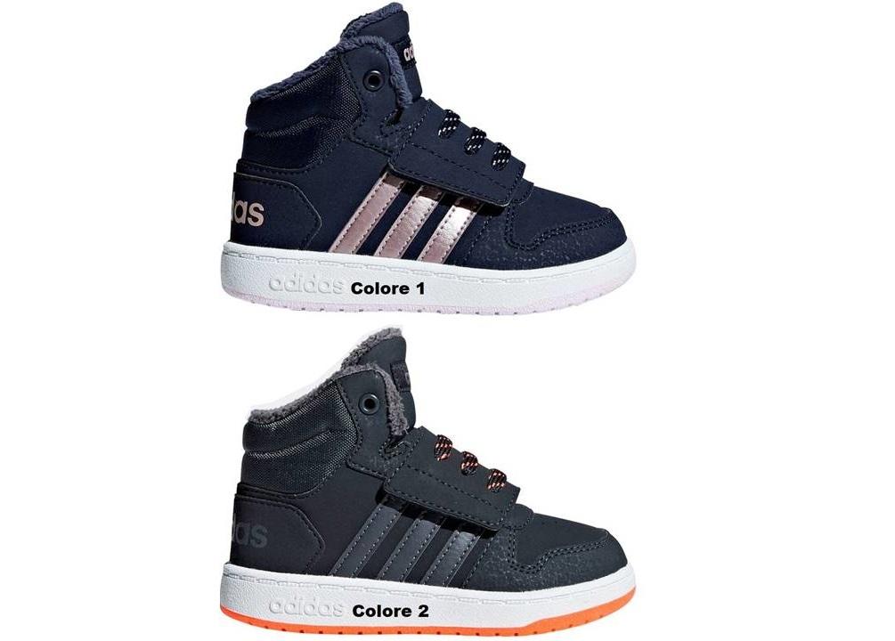 0a6e41e3f5435 Adidas HOOPS MID 2.0I dal 20 al 27 Scarpe Con Strappo Bambino Ginnastica