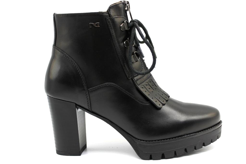 negro Giardini A807073D negro botas Sopra la Caviglia mujer Con Plateau