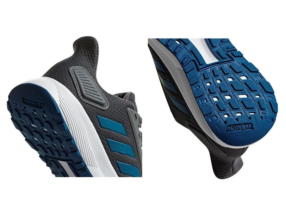 Dettagli su Adidas DURAMO 9K F35103 Grigio Scarpe Donna Bambini Sportive Running