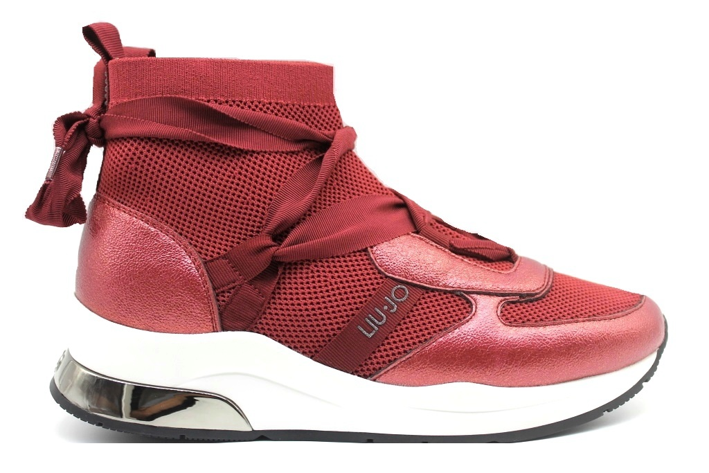 Liu Jo KARLIE TX066 469703 Red ankle boots Socks Women's Footwear Casual