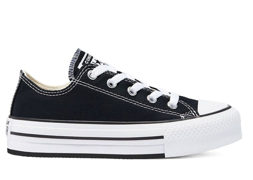 Scarpe donna Converse all star 670892C sneakers basse platform chuck tela nere